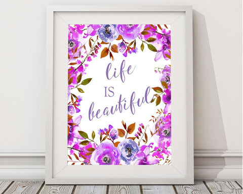 Wall Art Life Is Beautiful Digital Print Life Is Beautiful Poster ...