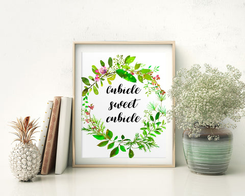 Wall Art Cubicle Sweet Cubicle Digital Print Cubicle Sweet Cubicle Poster Art Cubicle Sweet Cubicle Wall Art Print Cubicle Sweet Cubicle - Digital Download