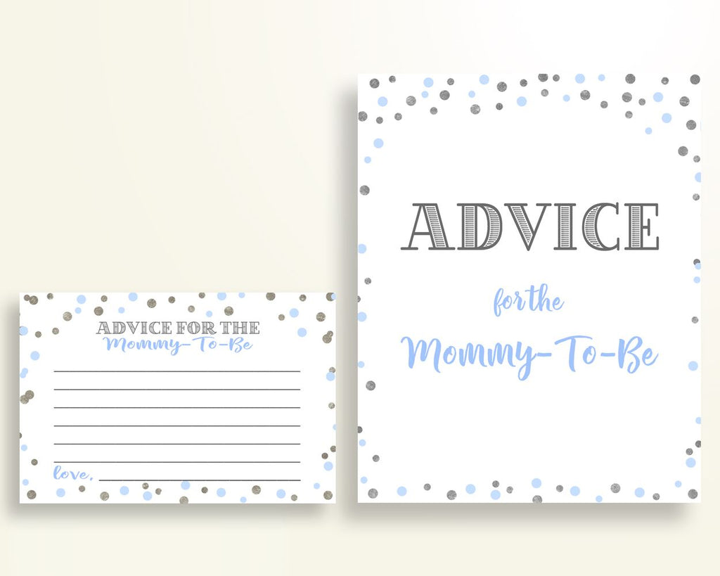 Advice Cards Baby Shower Advice Cards Blue And Silver Baby Shower Advice Cards Blue Silver Baby Shower Blue And Silver Advice Cards OV5UG - Digital Product