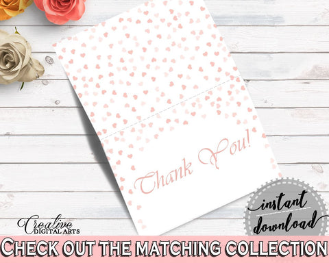 Thank You Card Bridal Shower Thank You Card Pink And Gold Bridal Shower Thank You Card Bridal Shower Pink And Gold Thank You Card Pink XZCNH - Digital Product