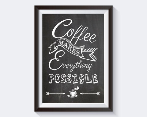 Wall Art Coffee Digital Print Coffee Poster Art Coffee Wall Art Print Coffee Bar Art Coffee Bar Print Coffee Wall Decor Coffee coffee lovers - Digital Download