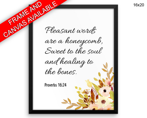 Proverbs Print, Beautiful Wall Art with Frame and Canvas options available Christian Decor
