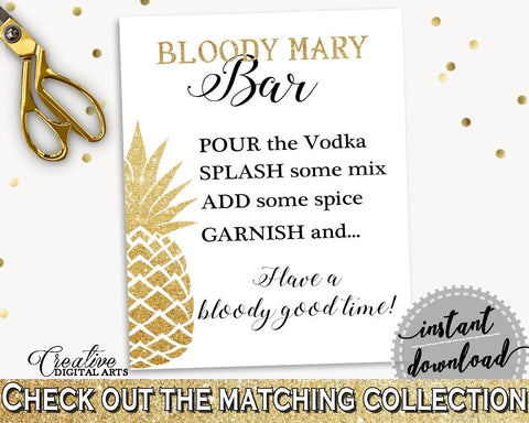 Bloody Mary Bar Sign Bridal Shower Bloody Mary Bar Sign Pineapple Bridal Shower Bloody Mary Bar Sign Bridal Shower Pineapple Bloody 86GZU - Digital Product