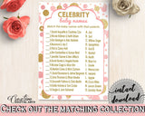 Celebrity Baby Names, Baby Shower Celebrity Baby Names, Dots Baby Shower Celebrity Baby Names, Baby Shower Dots Celebrity Baby Names RUK83 - Digital Product
