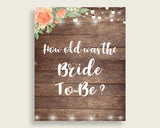 How Old Was The Bride To Be Bridal Shower How Old Was The Bride To Be Rustic Bridal Shower How Old Was The Bride To Be Bridal Shower SC4GE