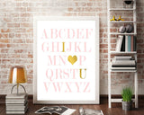 Wall Art Alphabet Digital Print Alphabet Poster Art Alphabet Wall Art Print Alphabet Nursery Art Alphabet Nursery Print Alphabet Wall Decor - Digital Download