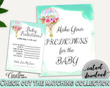 Baby Predictions Baby Shower Baby Predictions Hot Air Balloon Baby Shower Baby Predictions Baby Shower Hot Air Balloon Baby CSXIS - Digital Product