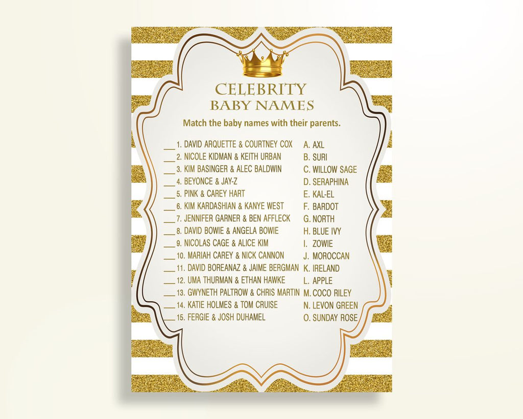 Celebrity Baby Names Baby Shower Celebrity Baby Names Royal Baby Shower Celebrity Baby Names Gold White Baby Shower Gold Celebrity Y9MQF - Digital Product