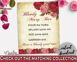 Bloody Mary Bridal Shower Bloody Mary Vintage Bridal Shower Bloody Mary Bridal Shower Vintage Bloody Mary Red Pink party décor XBJK2 - Digital Product