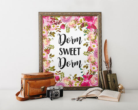 Wall Art Dorm Sweet Dorm Digital Print Dorm Sweet Dorm Poster Art Dorm Sweet Dorm Wall Art Print Dorm Sweet Dorm Student Art Dorm Sweet Dorm - Digital Download
