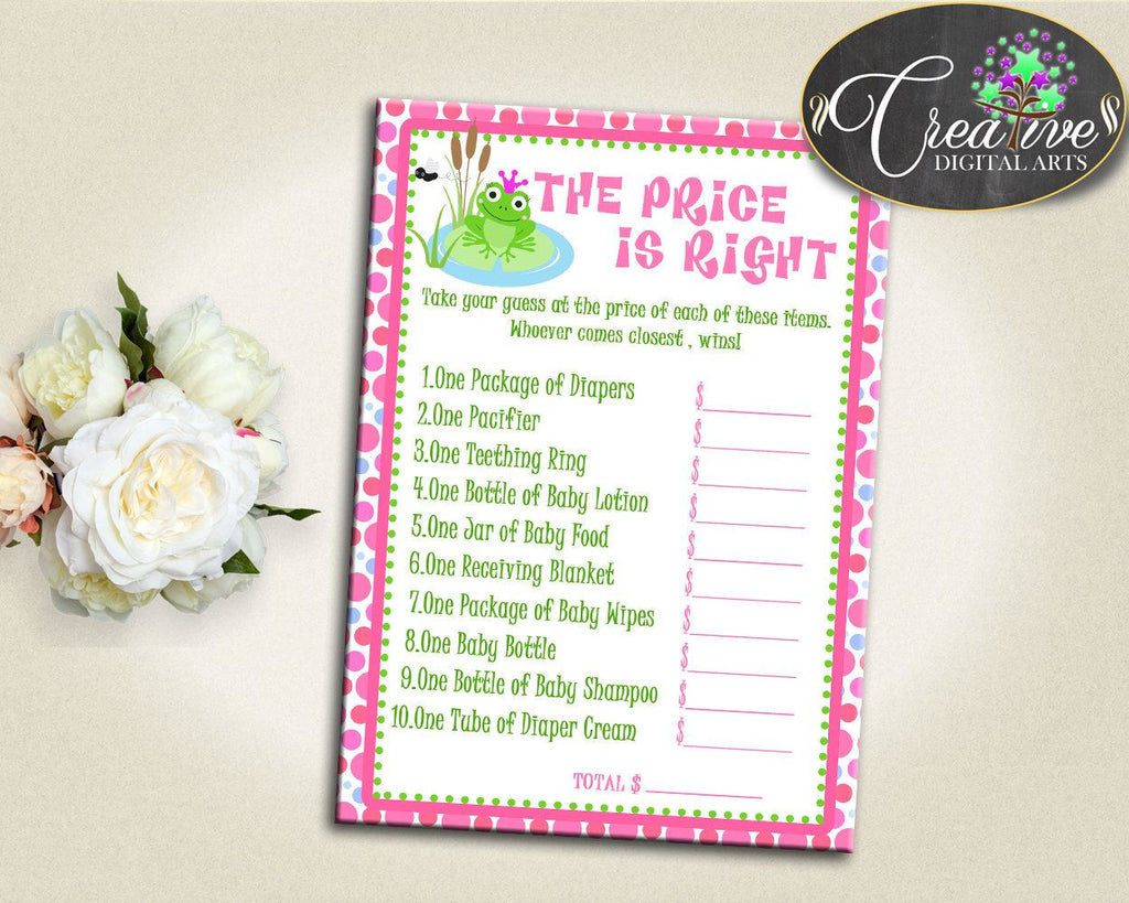 Baby Shower Kiss Baby Shower Frogs Receiving Blanket Teething Ring PRICE IS RIGHT, Pdf Jpg, Printable Files, Party Planning - bsf01 - Digital Product