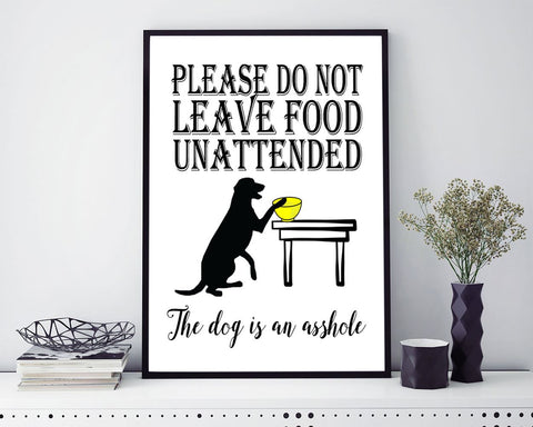 Wall Art Asshole Dog Digital Print Asshole Dog Poster Art Asshole Dog Wall Art Print Asshole Dog Living Room Art Asshole Dog Living Room - Digital Download