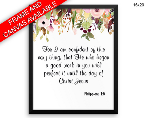 Philippians Print, Beautiful Wall Art with Frame and Canvas options available Religious Decor