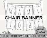 Chair Banner Baby Shower Chair Banner Adventure Mountain Baby Shower Chair Banner Gray White Baby Shower Adventure Mountain Chair S67CJ - Digital Product
