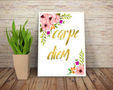 Wall Art Carpe Diem Digital Print Carpe Diem Poster Art Carpe Diem Wall Art Print Carpe Diem Motivation Art Carpe Diem Motivation Print - Digital Download