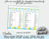 Baby Shower Ducks Shower Mint Theme Baby Ruth Chunky CANDY BAR GAME, Digital Print, Shower Activity, Shower Celebration - rd002 - Digital Product