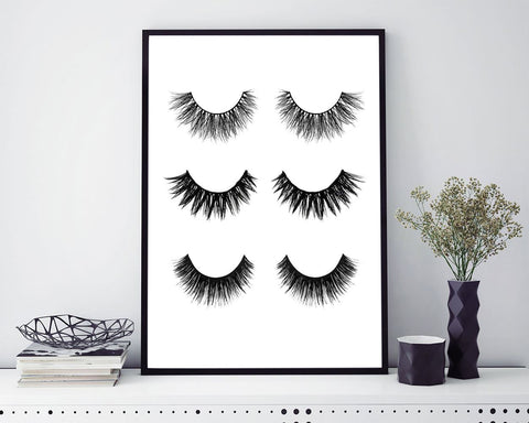 Wall Art Eyelashes Digital Print Eyelashes Poster Art Eyelashes Wall Art Print Eyelashes Beauty Art Eyelashes Beauty Print Eyelashes Wall - Digital Download