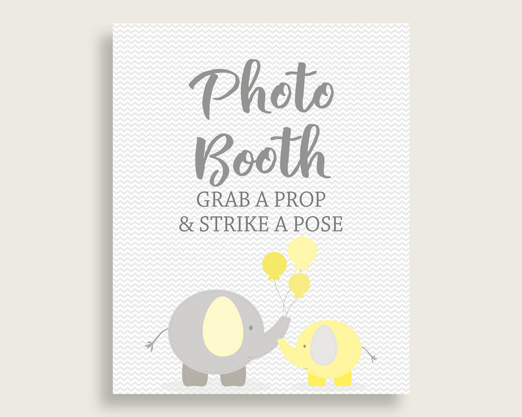 Photobooth Sign Baby Shower Photobooth Sign Yellow Baby Shower Photobooth Sign Baby Shower Elephant Photobooth Sign Yellow Gray pdf W6ZPZ