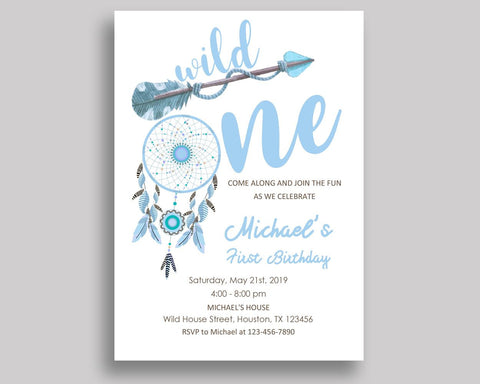 Wild One Bohemian Birthday Invitation Wild One Bohemian Birthday Party Invitation Wild One Bohemian Birthday Party Wild One Bohemian CT4ML - Digital Product