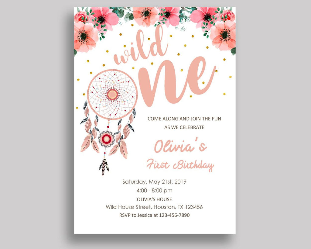 Dream Catcher First Birthday Invitation Dream Catcher First Birthday Party Invitation Dream Catcher First Birthday Party Dream Catcher BHODO - Digital Product