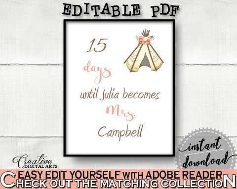 Days Until Becomes Bridal Shower Days Until Becomes Tribal Bridal Shower Days Until Becomes Bridal Shower Tribal Days Until Becomes 9ENSG - Digital Product