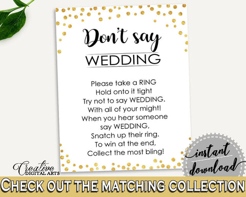 dont say wedding game bridal shower dont say wedding game confetti bridal