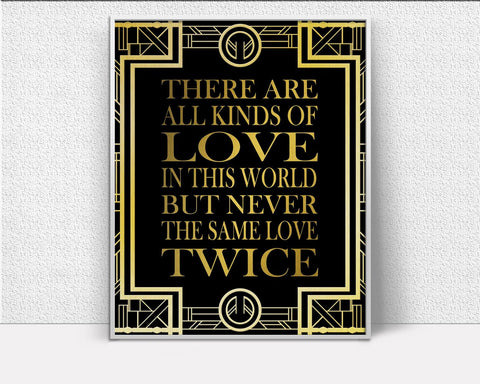 Wall Art Gatsby Digital Print Love Poster Art Gatsby Wall Art Print Love  Wall Decor Gatsby modern art gatsby quote gold art deco love quote - Digital Download