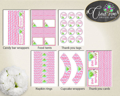 Baby Shower Frog Baby Shower Kiss Banner Bundle Welcome Sign DECORATION PACKAGE, Party Décor, Prints, Customizable Files - bsf01 - Digital Product