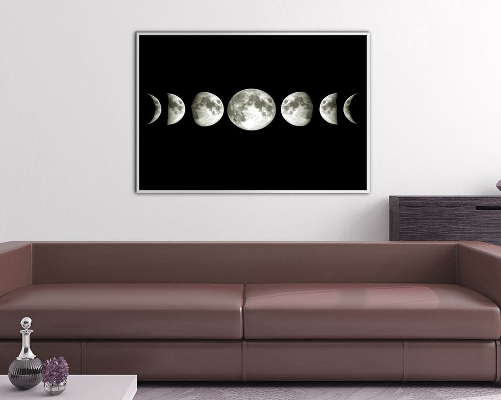 Wall Decor Moon Phases Printable Moon Phases Prints Moon Phases Sign Moon Phases Space Art Moon Phases Space Print Moon Phases Printable Art - Digital Download