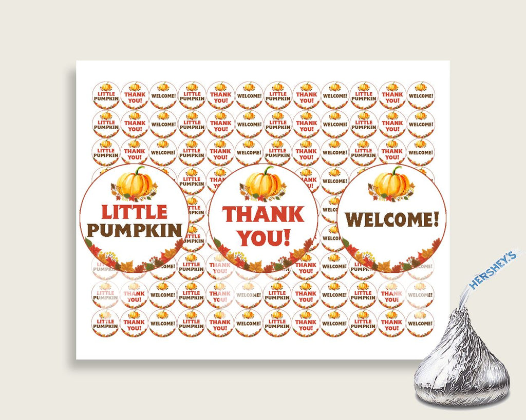 Hershey Kisses Baby Shower Hershey Kisses Fall Baby Shower Hershey Kisses Baby Shower Pumpkin Hershey Kisses Orange Brown pdf jpg BPK3D - Digital Product