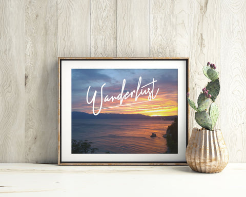 Wall Art Wanderlust Digital Print Wanderlust Poster Art Wanderlust Wall Art Print Wanderlust Inspirational Art Wanderlust Inspirational - Digital Download