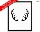 Antlers Print, Beautiful Wall Art with Frame and Canvas options available  Decor