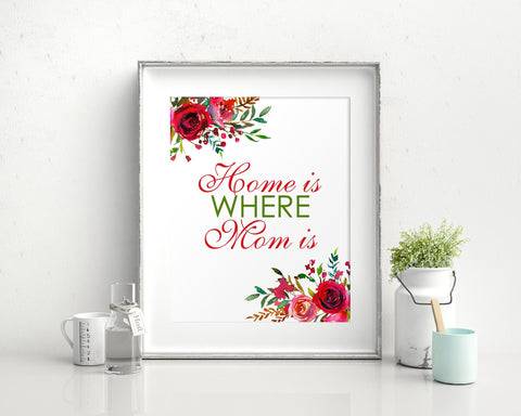 Wall Art Home Is Where Mom Is Digital Print Home Is Where Mom Is Poster Art Home Is Where Mom Is Wall Art Print Home Is Where Mom Is  Wall - Digital Download