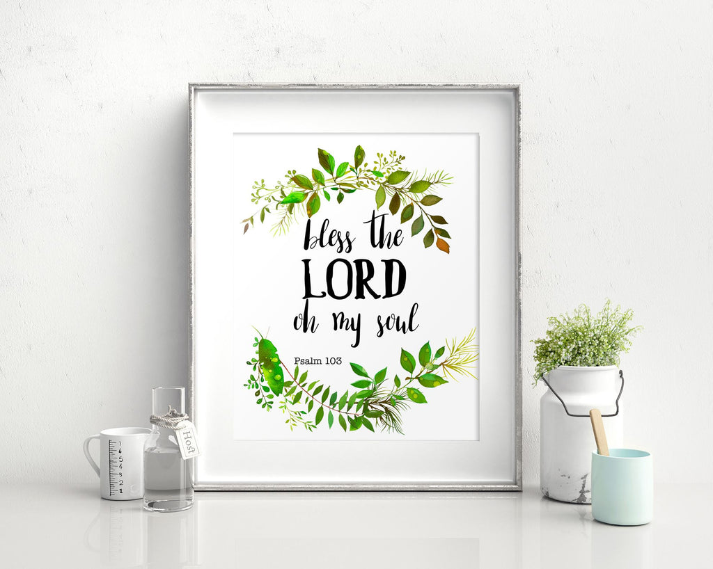 Wall Art Bless The Lord Oh My Soul Digital Print Bless The Lord Oh My Soul Poster Art Bless The Lord Oh My Soul Wall Art Print Bless The - Digital Download