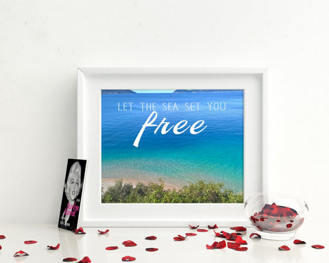 Wall Decor Free Printable Sea Prints Free Sign Sea Photography Art Sea Photography Print Free Printable Art Free Freedom Quote - Digital Download