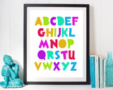 Abc Prints Wall Art Alphabet Digital Download Abc Nursery Art Alphabet Nursery Print Abc Instant Download Alphabet Frame And Canvas abc art - Digital Download