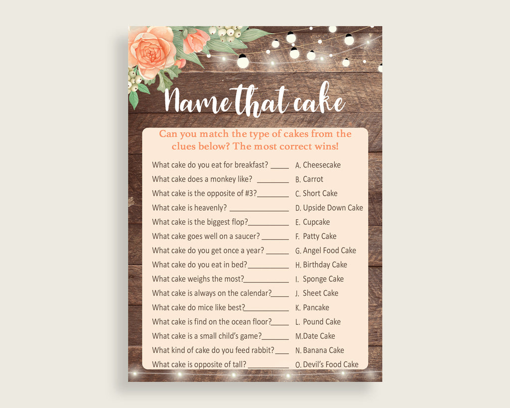 Name That Cake Bridal Shower Name That Cake Rustic Bridal Shower Name That Cake Bridal Shower Flowers Name That Cake Brown Beige party SC4GE