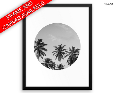 Palm Tree Print, Beautiful Wall Art with Frame and Canvas options available Photography Decor