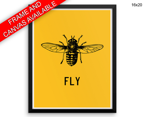 Fly Print, Beautiful Wall Art with Frame and Canvas options available Home Decor