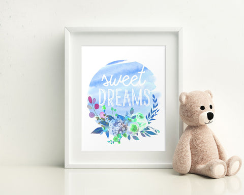 Wall Decor Sweet Dreams Printable Sweet Dreams Prints Sweet Dreams Sign Sweet Dreams Nursery Art Sweet Dreams Nursery Print Sweet Dreams - Digital Download