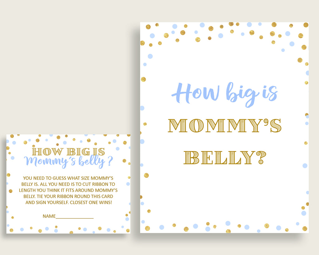 Mommy's Belly Baby Shower Mommy's Belly Confetti Baby Shower Mommy's Belly Blue Gold Baby Shower Confetti Mommy's Belly party décor cb001