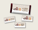 Winter Woodland Hershey Candy Bar Wrapper Printable, Beige Brown Chocolate Bar Wrappers, Gender Neutral Shower Candy Labels, Instant RM4SN