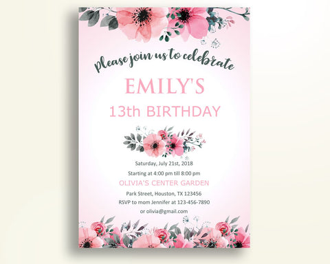 Blush Birthday Invitation Blush Birthday Party Invitation Blush Birthday Party Blush Invitation Girl invitation blush pdf invitation HKLYX - Digital Product