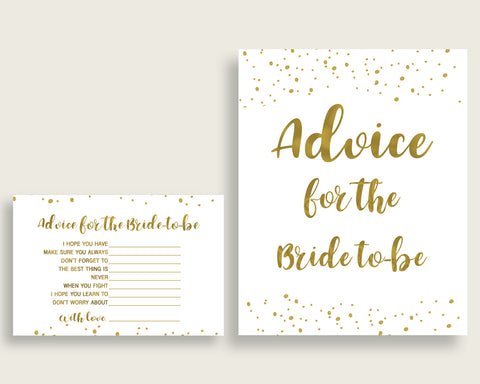 Advice Cards Bridal Shower Advice Cards Gold Bridal Shower Advice Cards Bridal Shower Gold Advice Cards Gold White party plan party G2ZNX