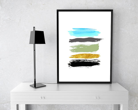 Wall Art Brush Digital Print Abstract Poster Art Brush Wall Art Print Abstract Living Room Art Abstract Living Room Print Brush Wall Decor - Digital Download