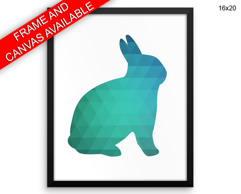 Rabbit Geometric Print, Beautiful Wall Art with Frame and Canvas options available  Decor