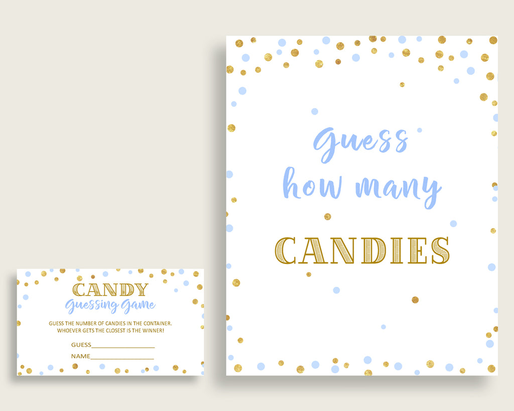 Candy Guessing Baby Shower Candy Guessing Confetti Baby Shower Candy Guessing Blue Gold Baby Shower Confetti Candy Guessing pdf jpg cb001