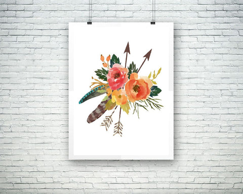 Wall Art Bouquet Digital Print Flowers Poster Art Bouquet Wall Art Print Flowers bohemian_wall_art Art Flowers bohemian_wall_art Print - Digital Download
