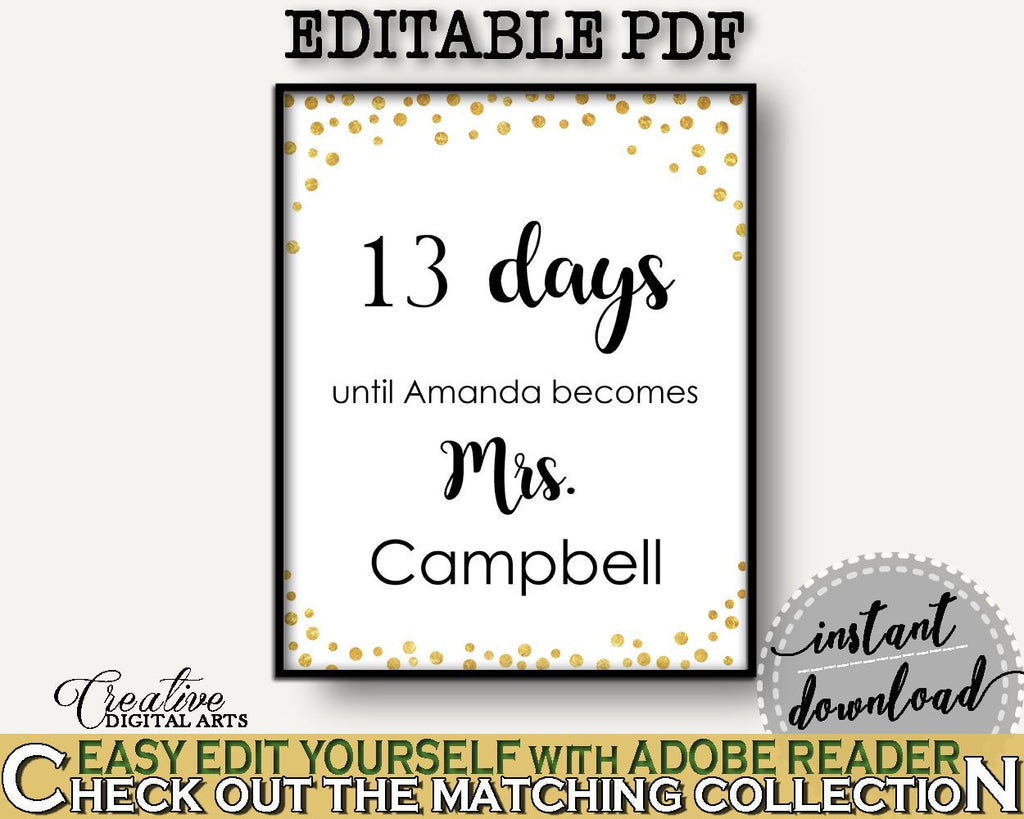 Days Until Becomes Bridal Shower Days Until Becomes Confetti Bridal Shower Days Until Becomes Bridal Shower Confetti Days Until CZXE5 - Digital Product
