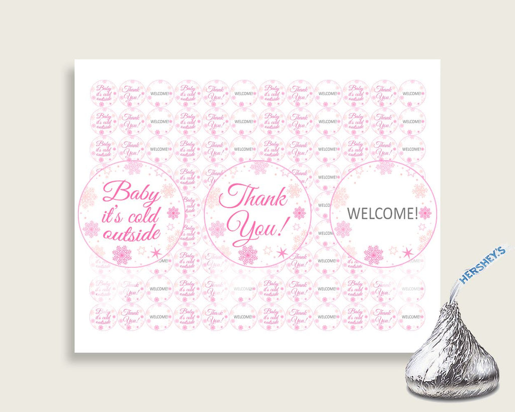 Hershey Kisses Baby Shower Hershey Kisses Winter Baby Shower Hershey Kisses Baby Shower Girl Hershey Kisses Pink White party theme 74RVX - Digital Product